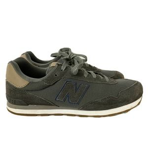 New Balance 515 Grey Tan Suede Laced Sneakers